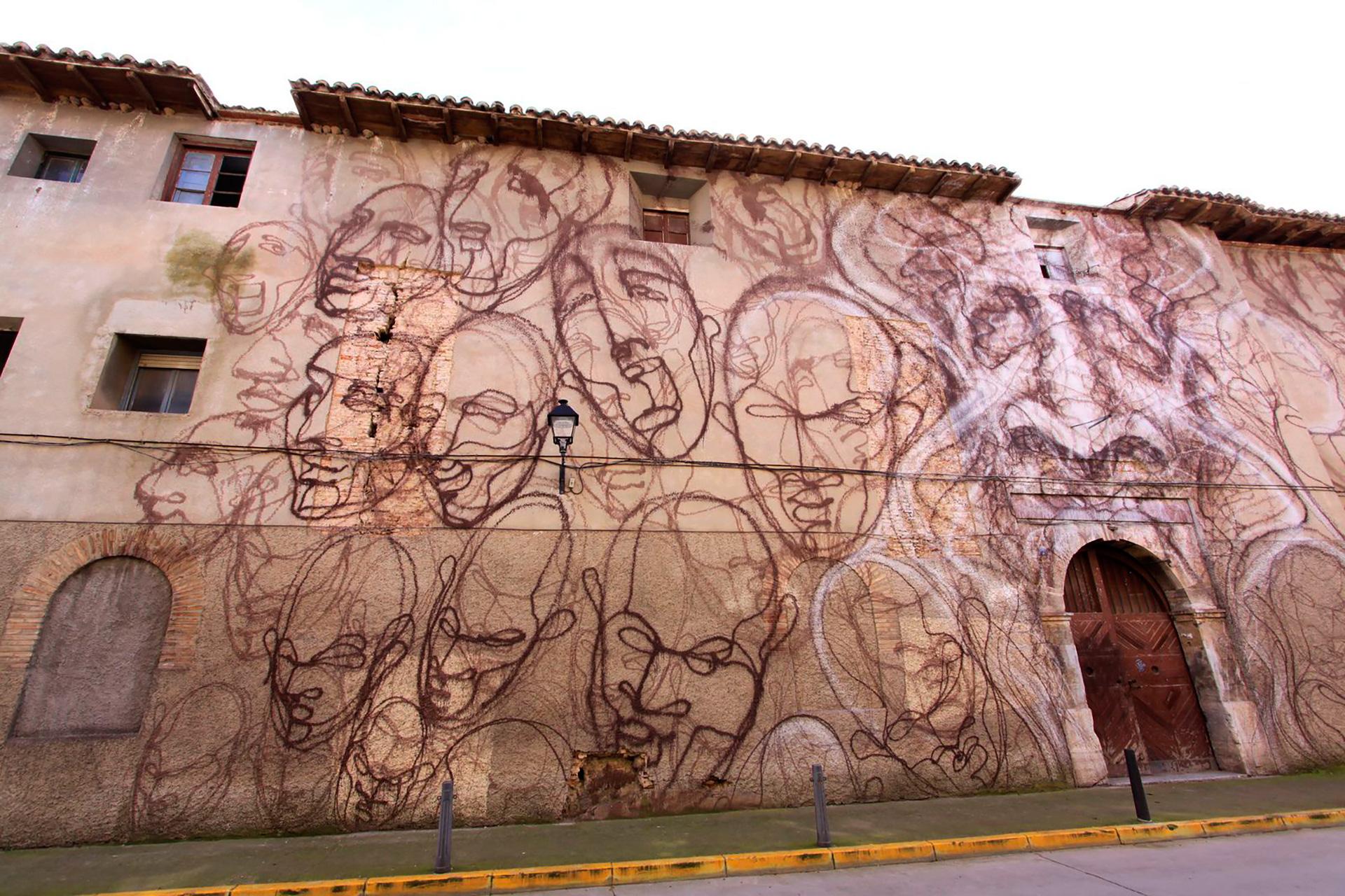 SUSO33 Wall Angustias-máscaras Tudela