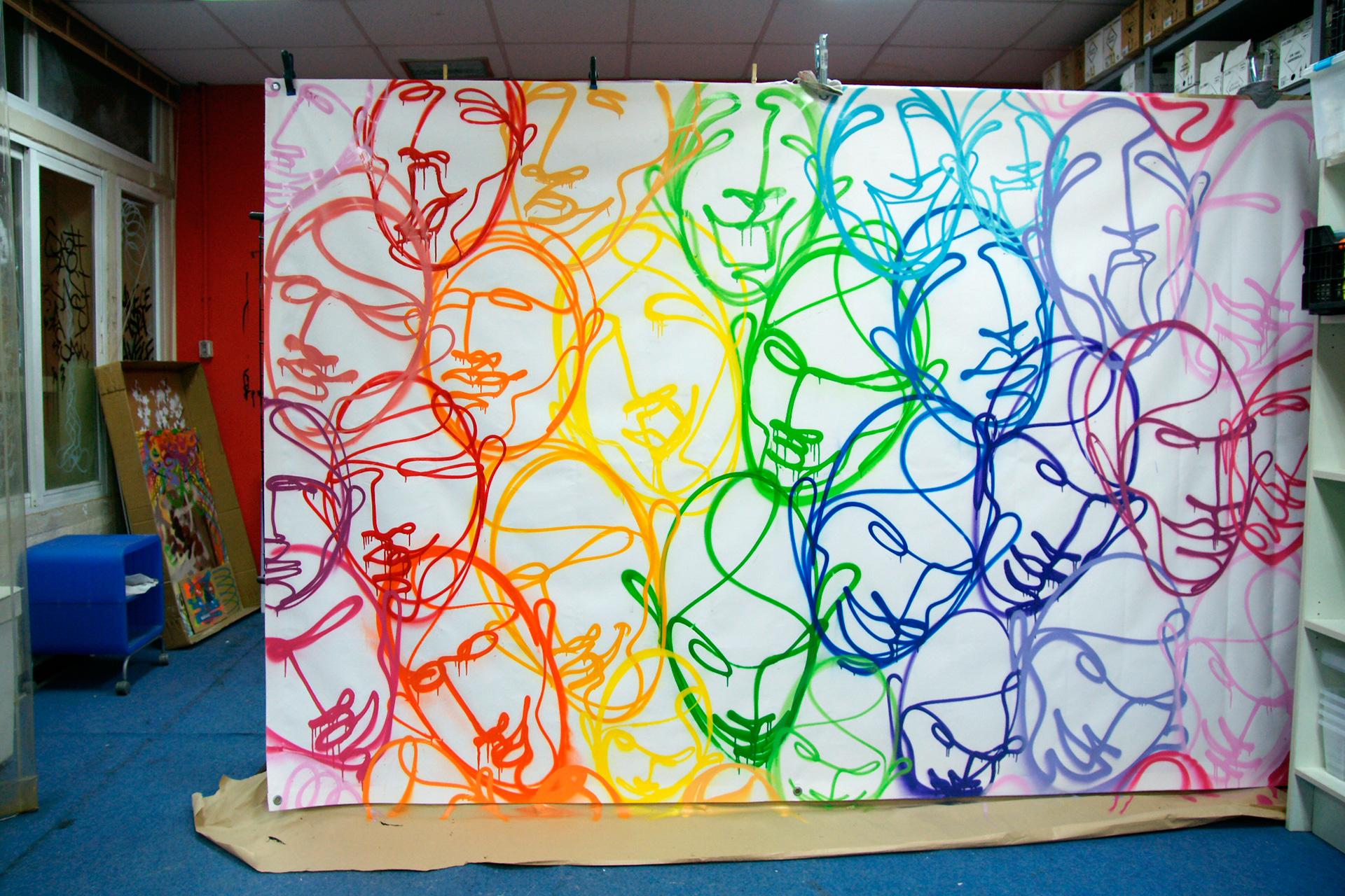 SUSO33 Máscaras Spray on canvas