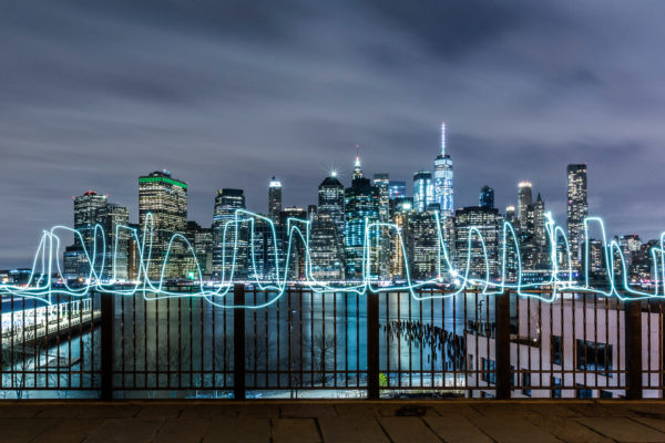 SUSO33 Light Painting Skyline NYC