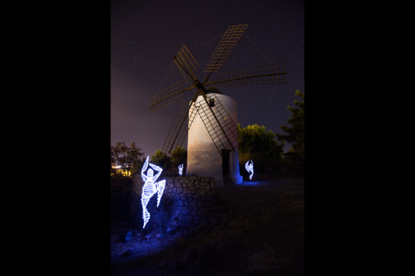 SUSO33 Light Painting. Ephemeral Ibiza