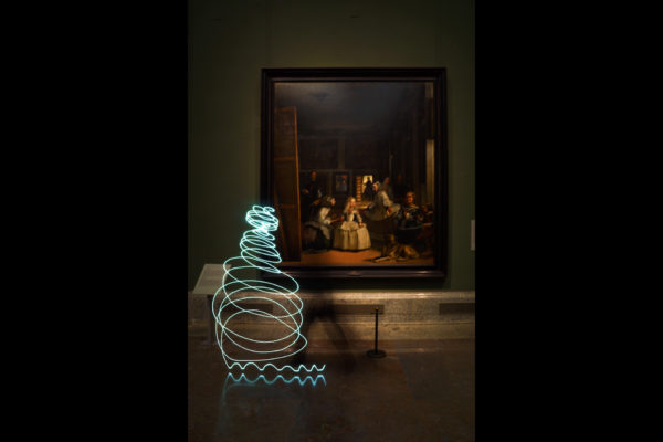 SUSO33 Light Painting. Museo del Prado, Madrid