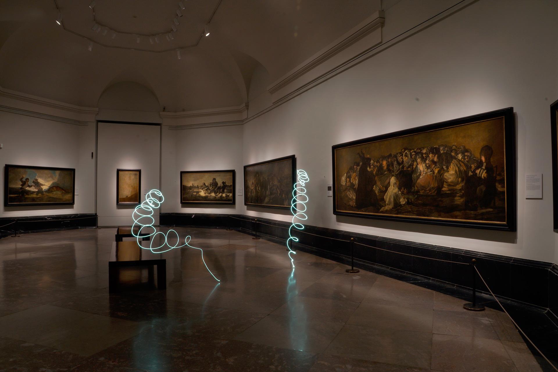 SUSO33 Light Painting Museo del Prado Goya
